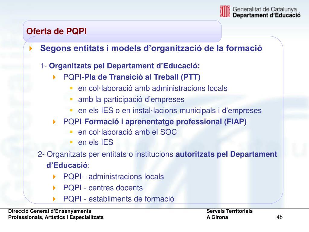 Oferta de PQPI