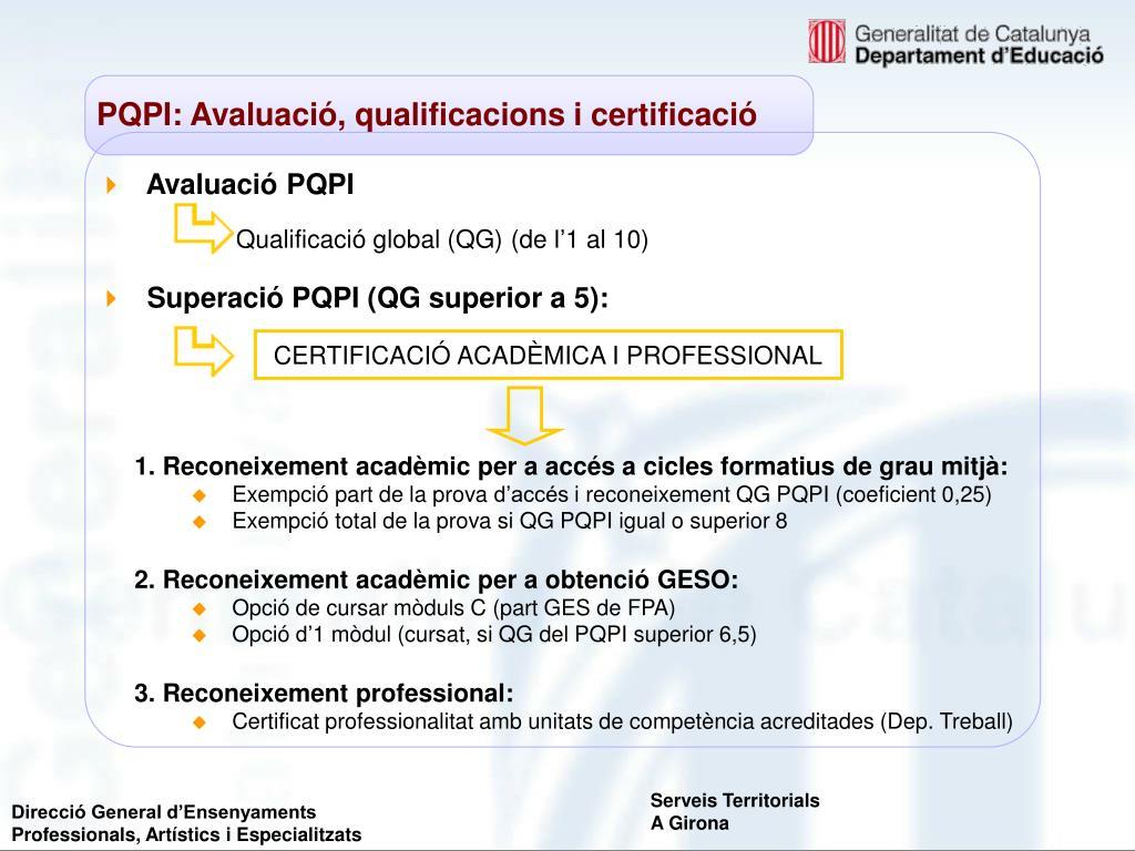 Avaluació PQPI