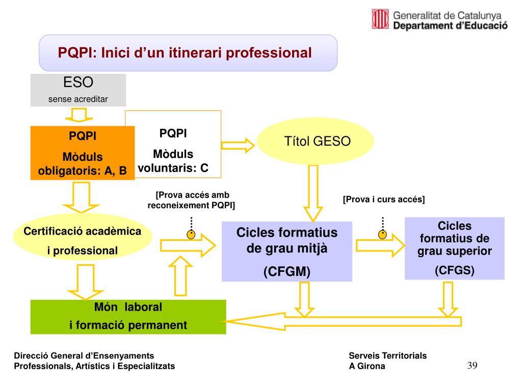 PQPI: Inici d'un itinerari professional
