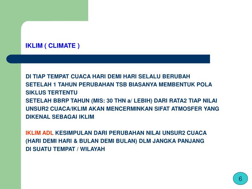 IKLIM ( CLIMATE )
