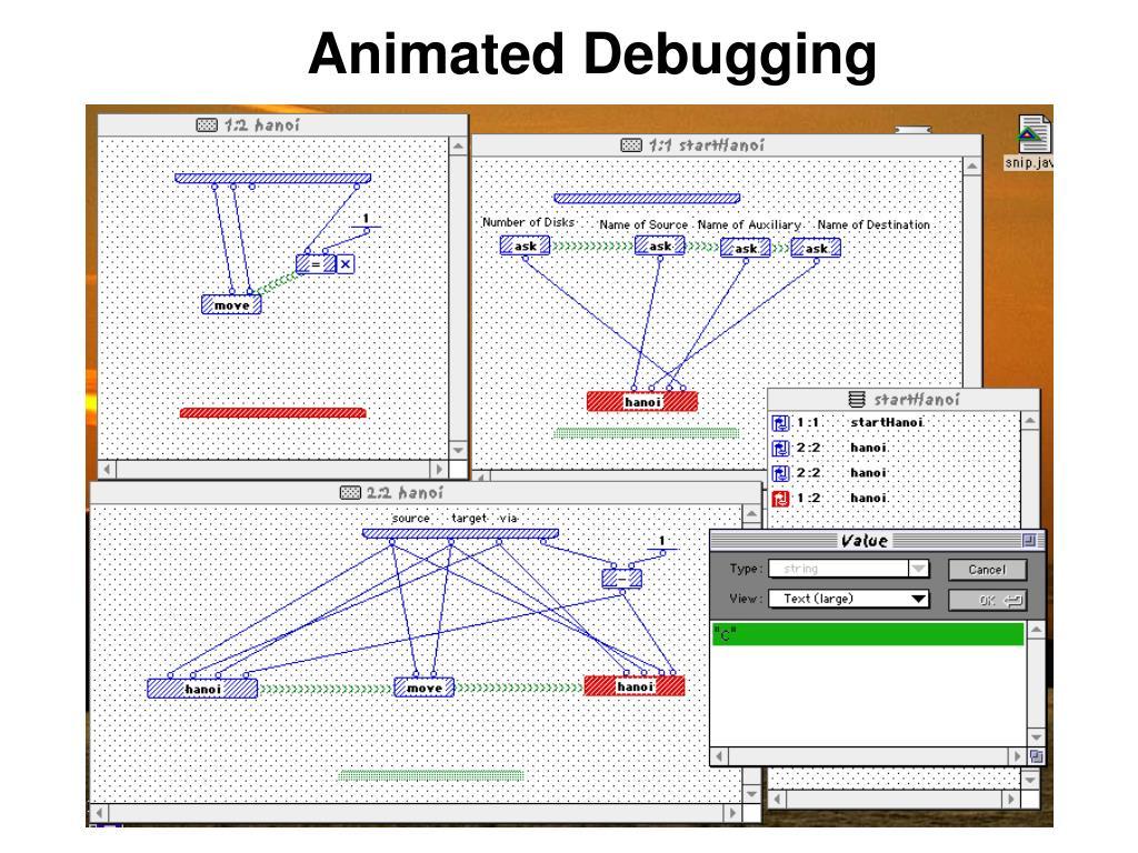 Animated Debugging