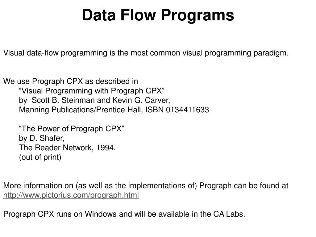 Data Flow Programs