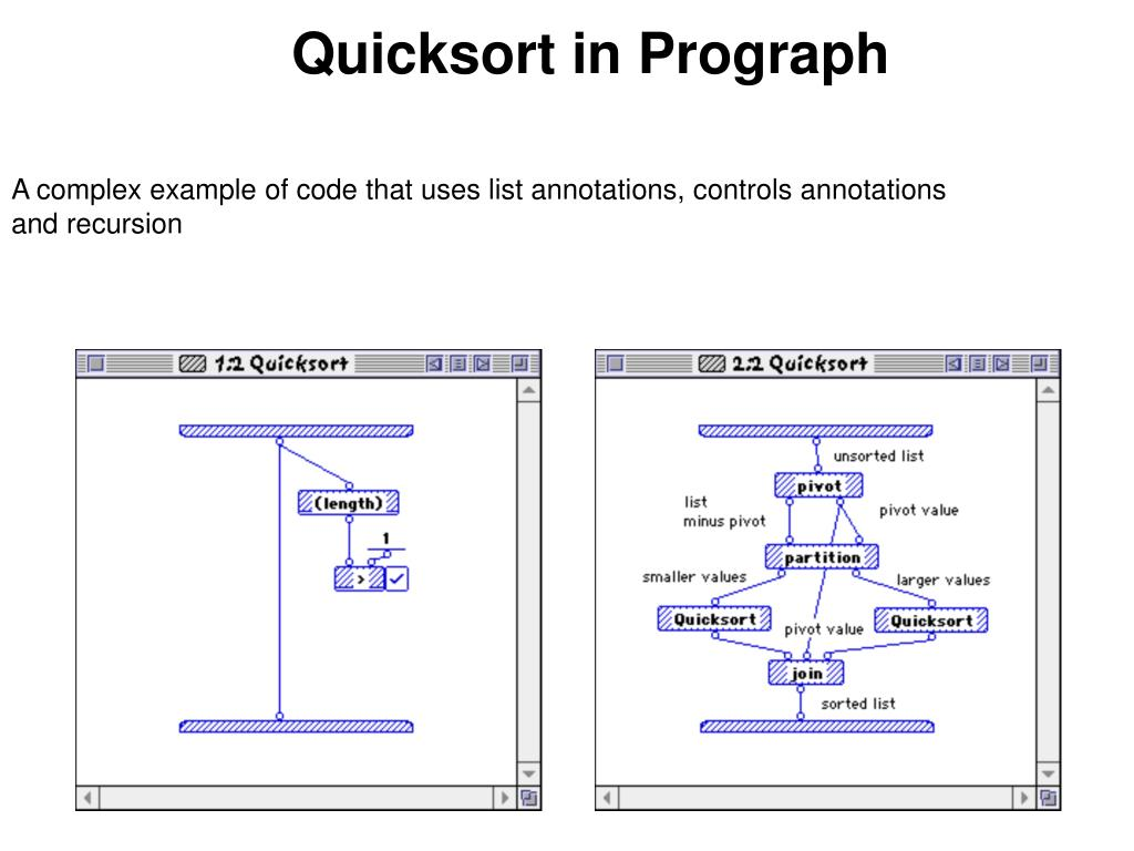 Quicksort in Prograph