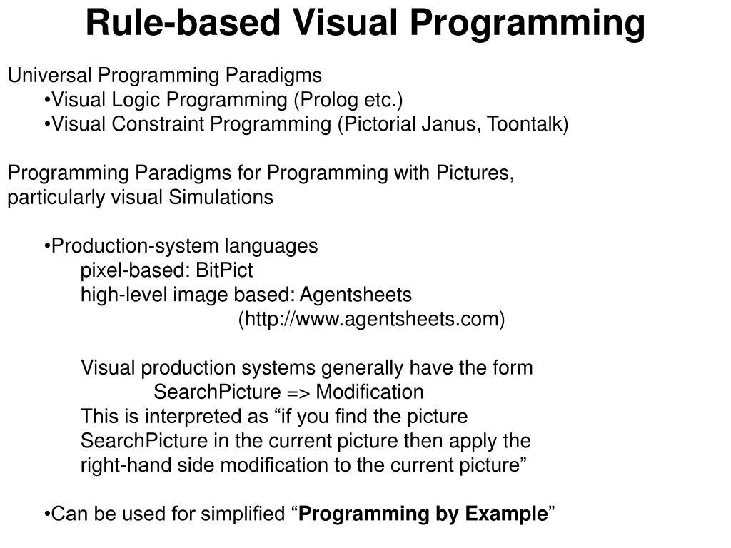 Rule-based Visual Programming