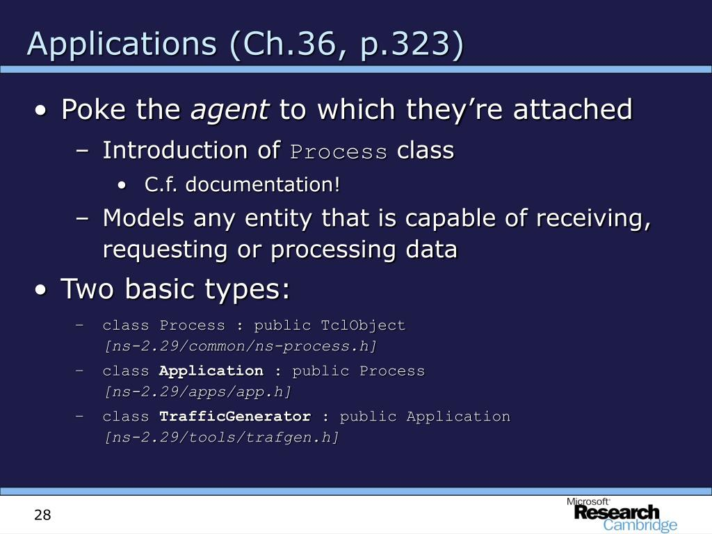 Applications (Ch.36, p.323)