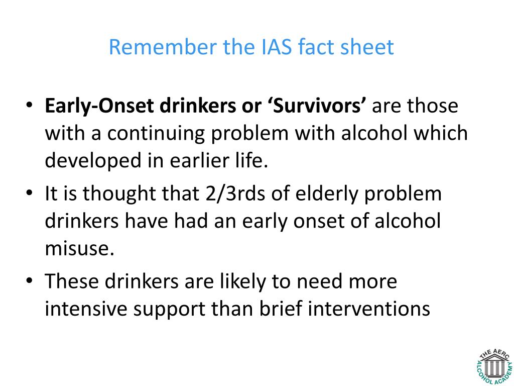Remember the IAS fact sheet