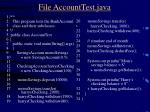 file accounttest java