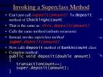 invoking a superclass method