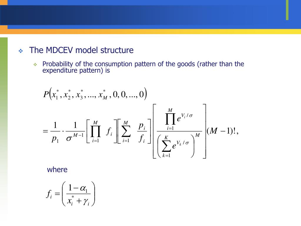 The MDCEV model structure