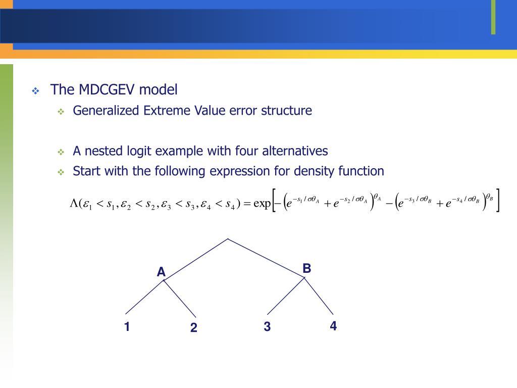 The MDCGEV model