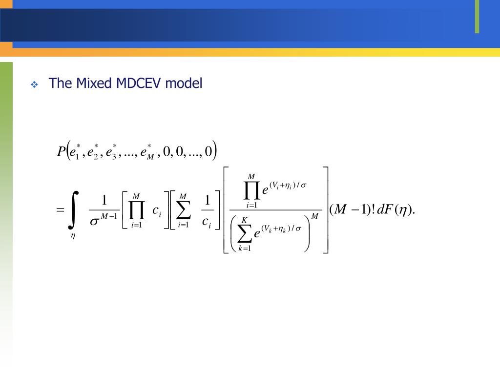 The Mixed MDCEV model