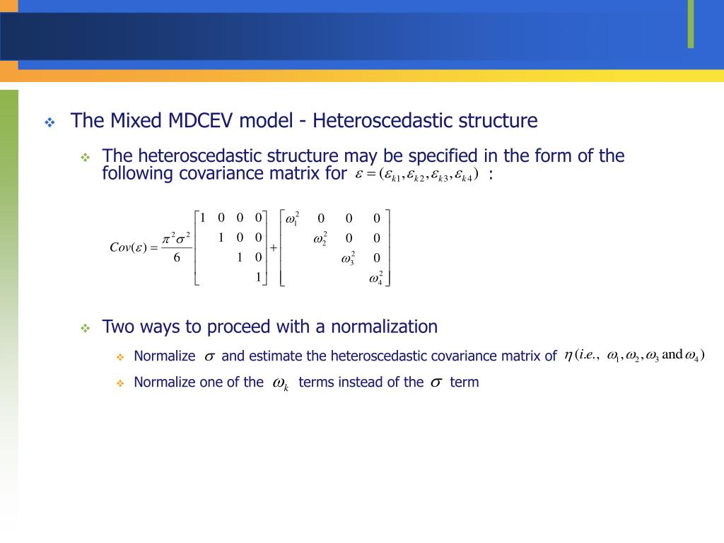 The Mixed MDCEV model - Heteroscedastic structure