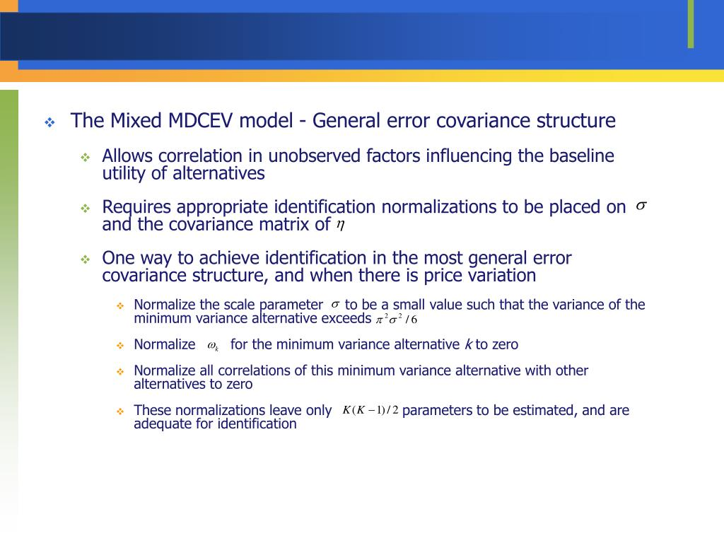 The Mixed MDCEV model - General error covariance structure
