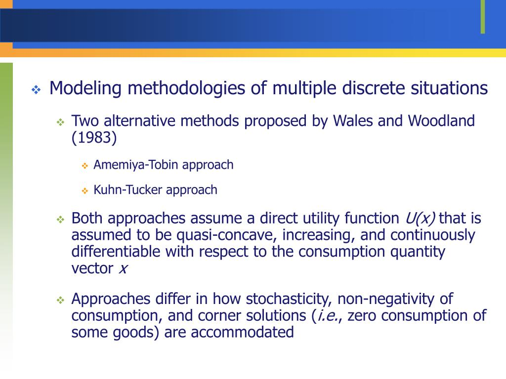 Modeling methodologies of multiple discrete situations