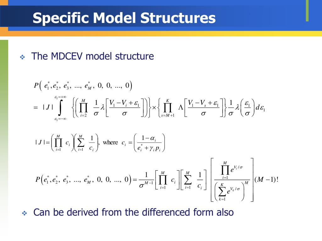 Specific Model Structures