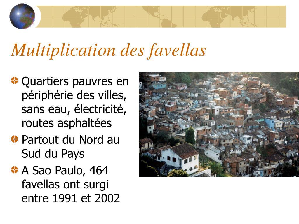 Quartiers pauvres en périphérie des villes, sans eau, électricité, routes asphaltées
