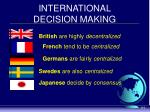 international decision making