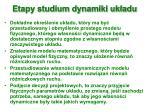etapy studium dynamiki uk adu