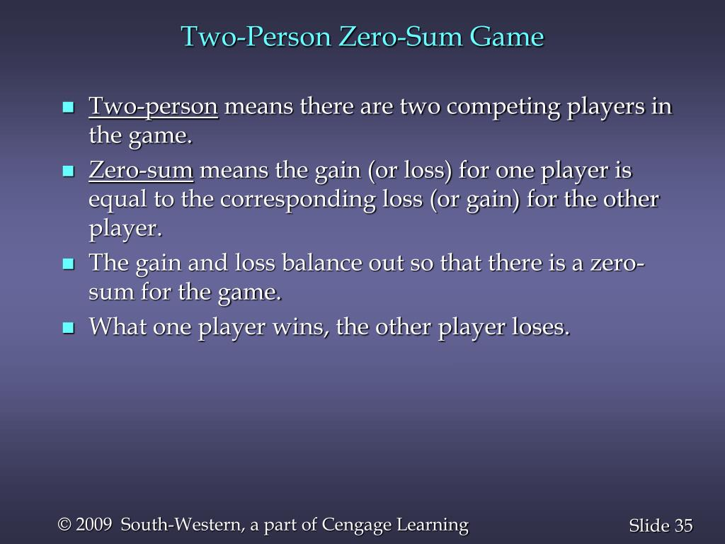 Two-Person Zero-Sum Game
