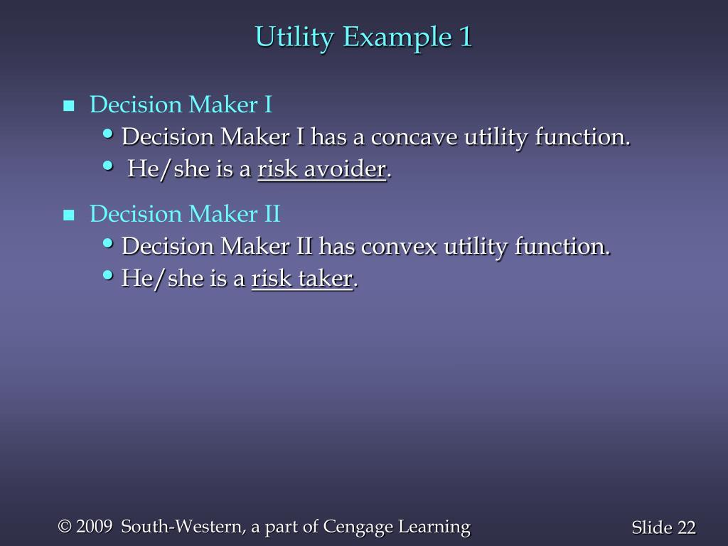 Utility Example 1