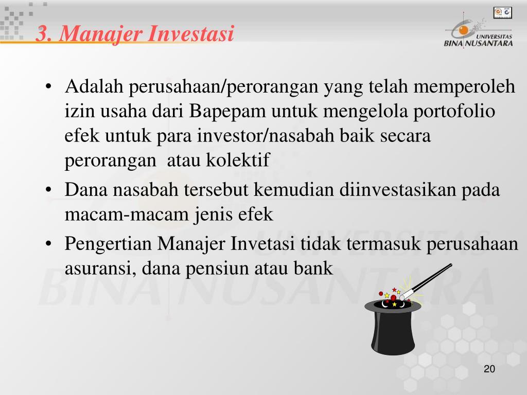 3. Manajer Investasi
