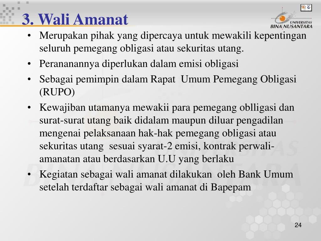 3. Wali Amanat