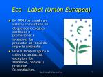 eco label uni n europea