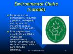 environmental choice canad
