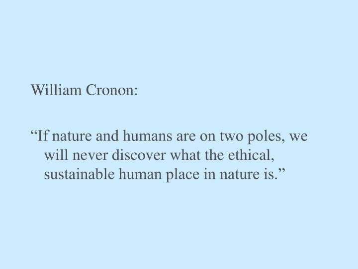 William Cronon: