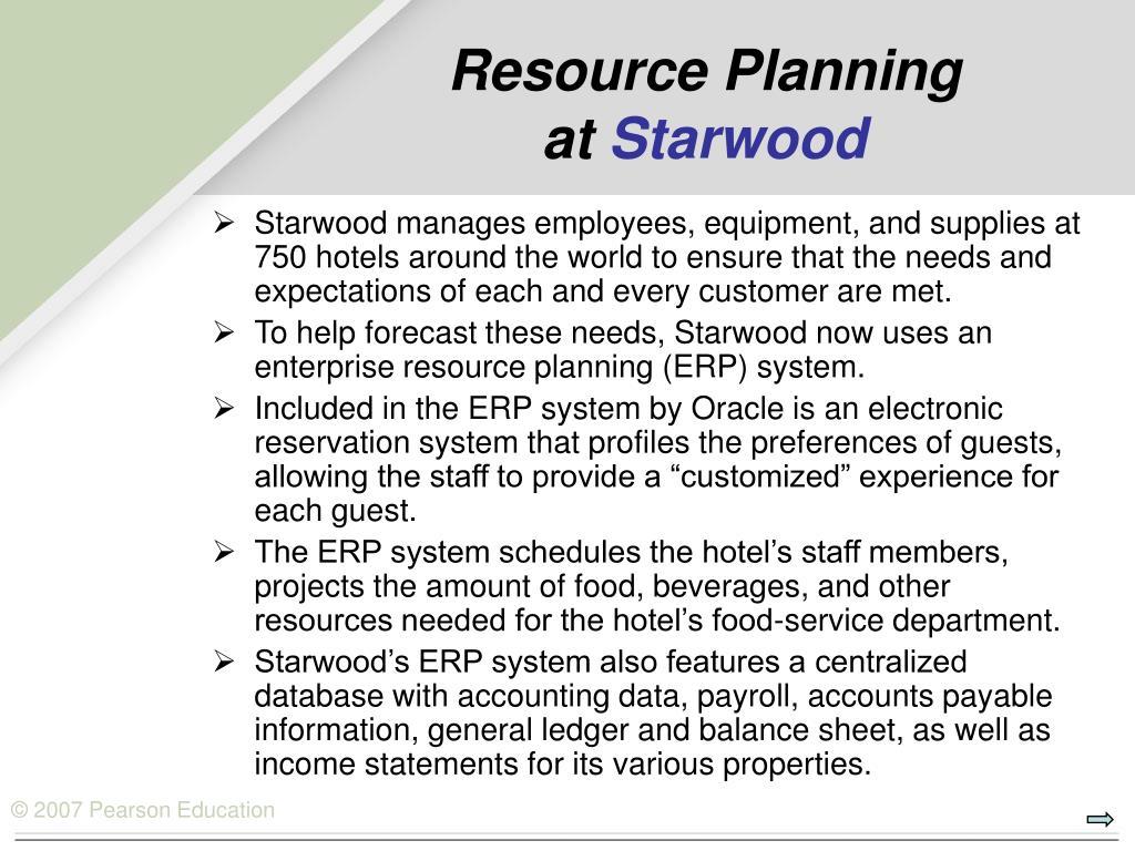 Resource Planning