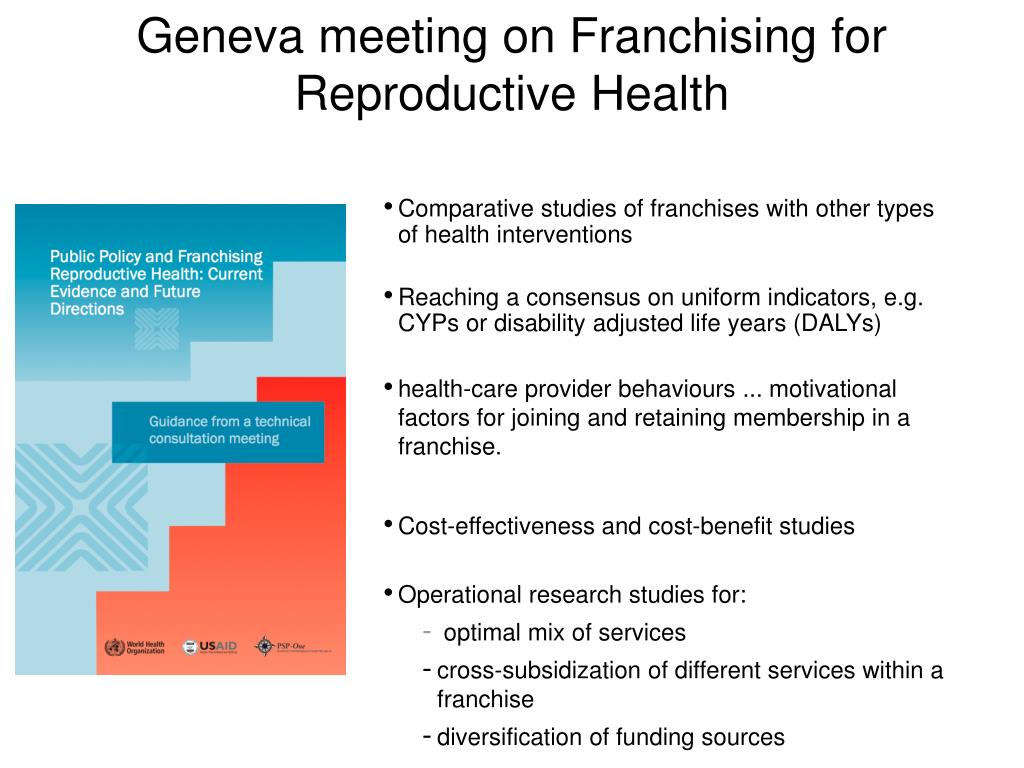 Geneva meeting on Franchising for Reproductive Health