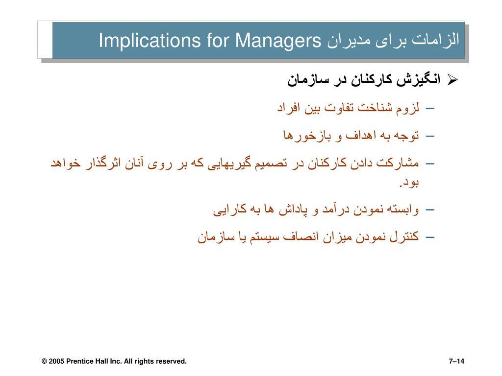 الزامات برای مدیران