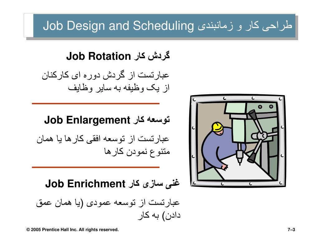 طراحی کار و زمانبندی
