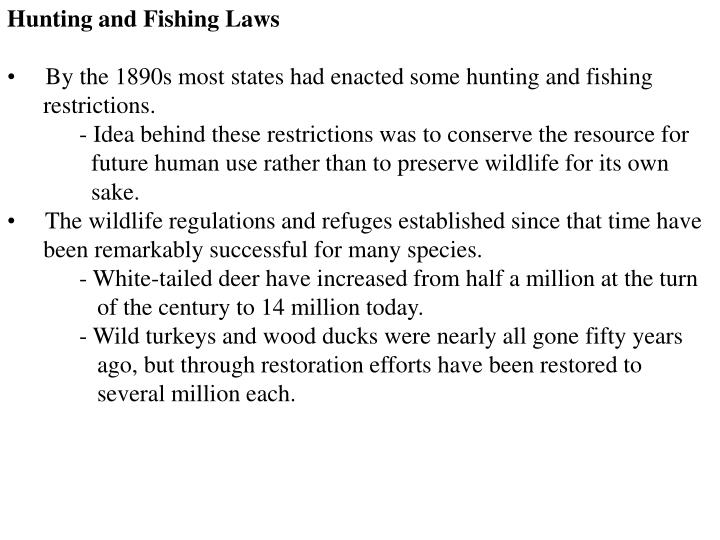 Hunting and Fishing Laws