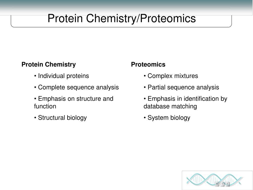 Protein Chemistry/Proteomics