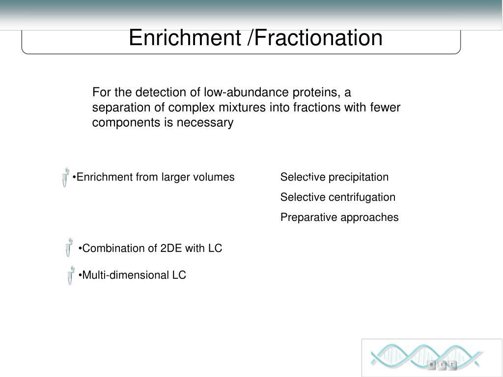 Enrichment /Fractionation