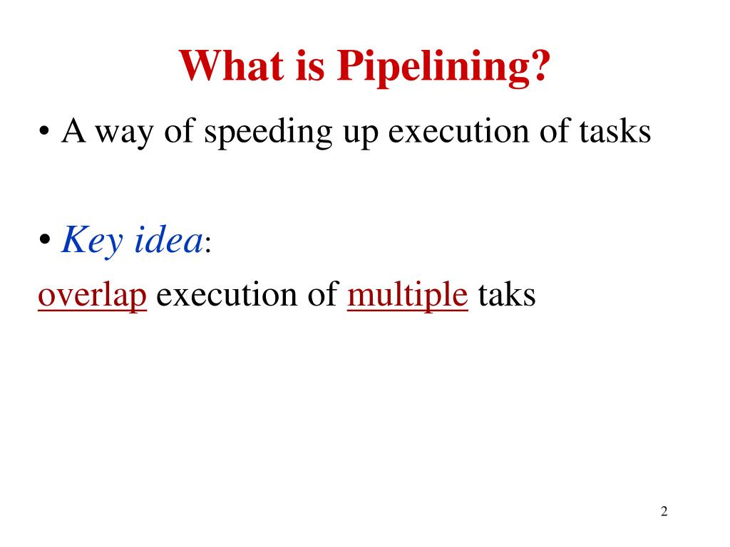 What is Pipelining?