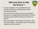 what was done to help the farmers