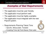 examples of bad requirements