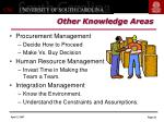 other knowledge areas