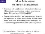 more information on project management