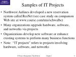 samples of it projects