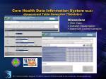 core health data information system multi dimensional table generator tabulator