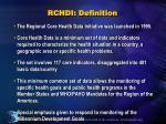 rchdi definition