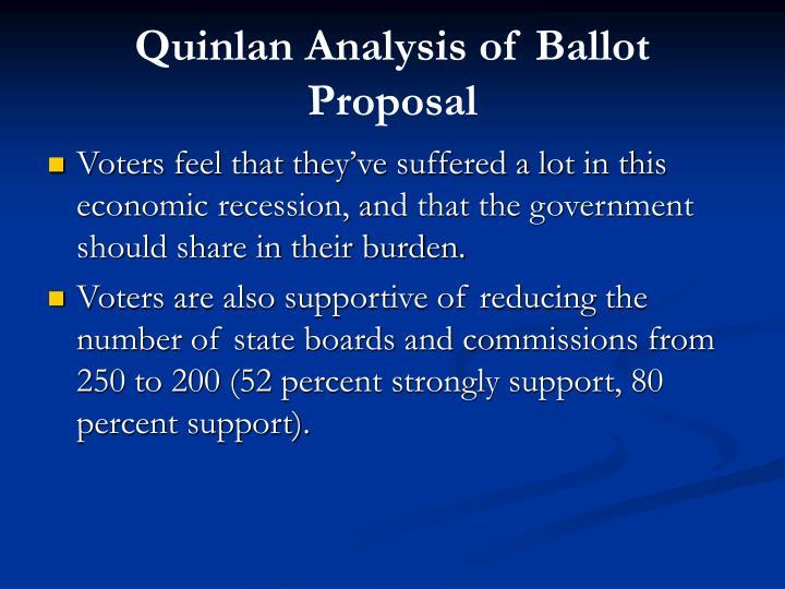 Quinlan Analysis of Ballot Proposal