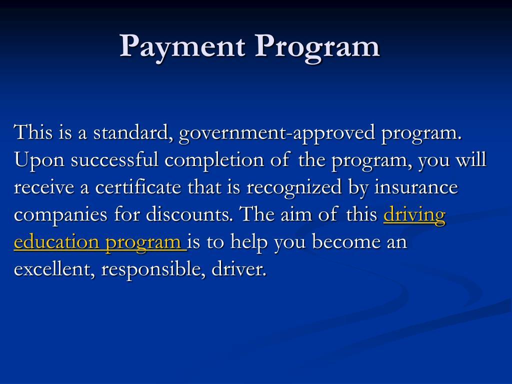 Payment Program