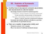 iii statistics of systematic uncertainties