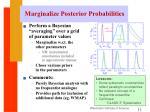 marginalize posterior probabilities