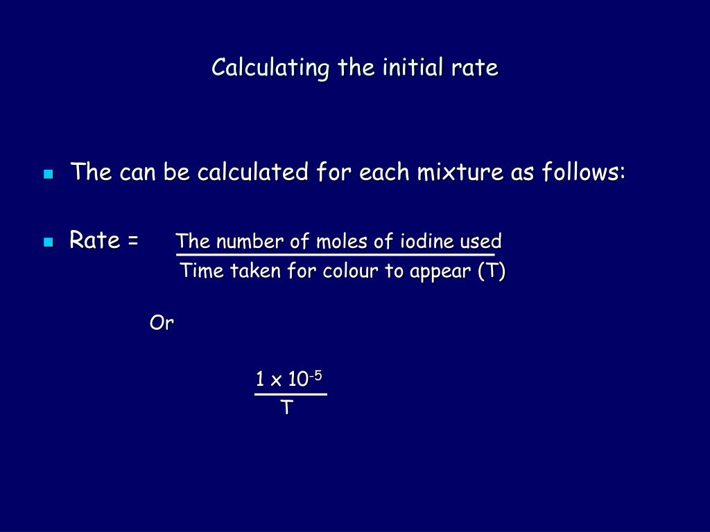 how to find the initial rate