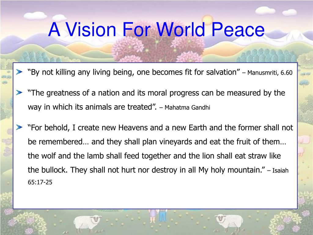 A Vision For World Peace